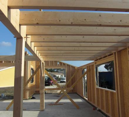 surélévation et extension - maison-bois coureau 1